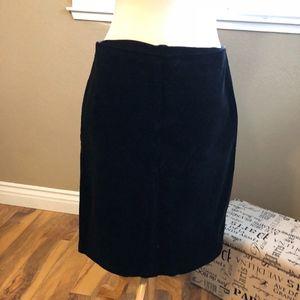 Gap Black Corduroy Skirt